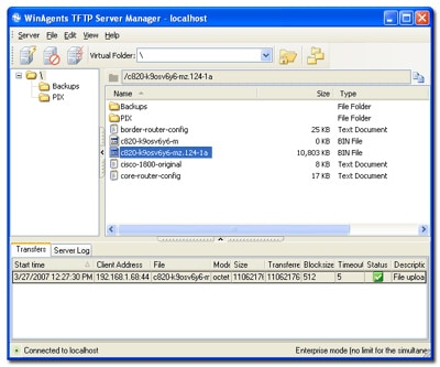 winagents tftp server screenshot