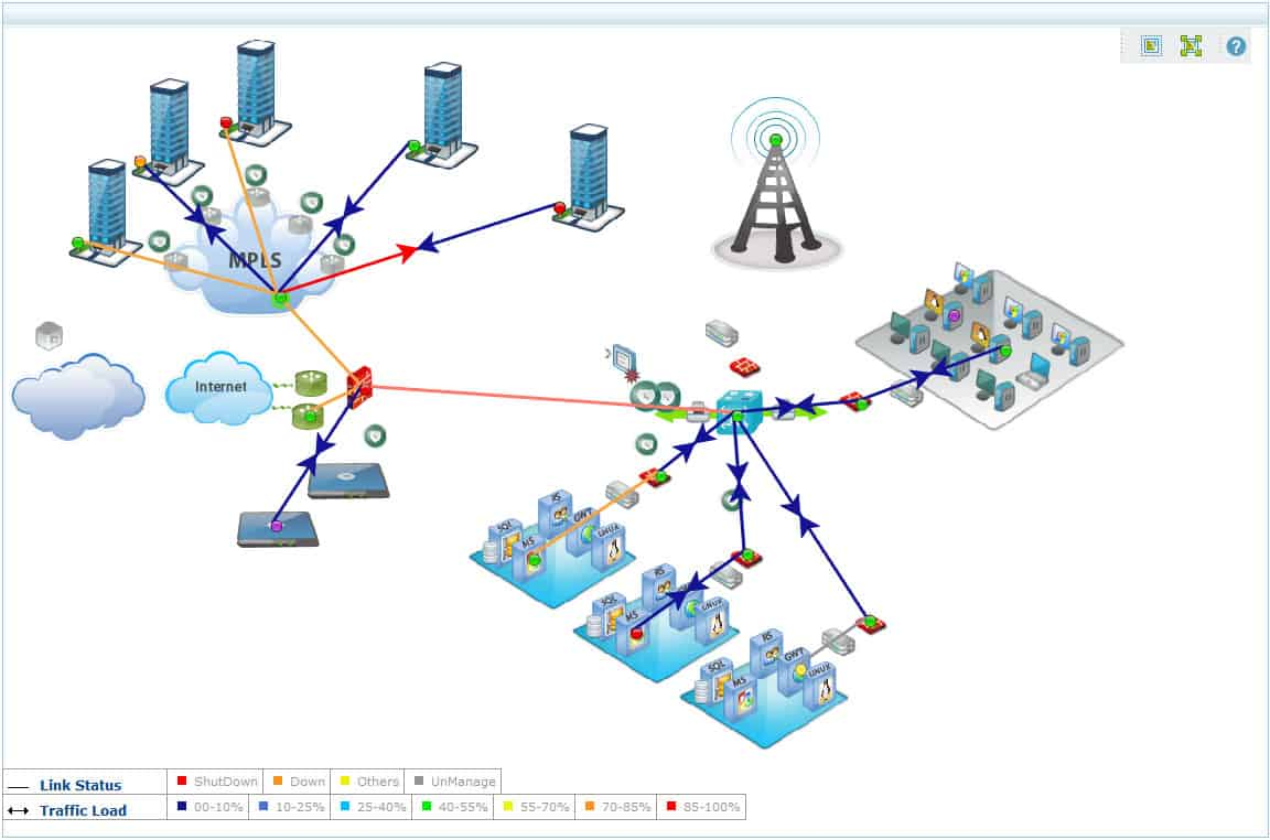 Opmanager network map